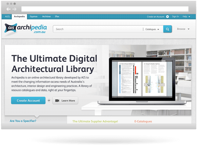 Archipedia Website Design